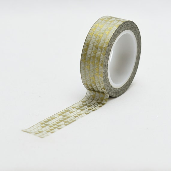 Metallic Gold Triangle Washi Tape - wedding decor - craft supply - card making - Love My Tapes