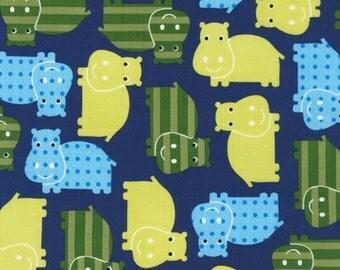 Urban Zoologie Hippos Royal by Ann Kelle for Robert Kaufman, 1/2 yard
