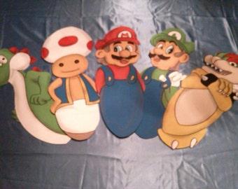 Mario Bro's children's bedroom ceiling fan blades