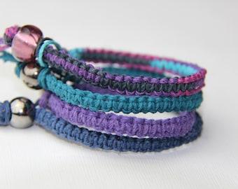 Set of Hemp Bracelets