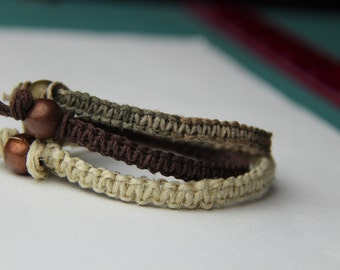 Earth Tones Hemp Bracelet Set
