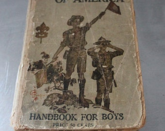 BOY SCOUTS of America - HANDBOOK for boys - 1920 or 1921 - great for project
