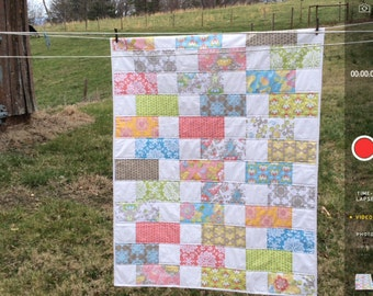 Five and Ten Quilt with Lila Tueller fabrics