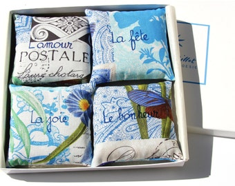 Valentine's gift. Valentine for her. For a friend. Gift for her. Hostess gift. Wedding favor. French Lavender Sachets. Lavender sachet