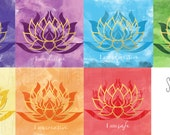 Set of 7 Chakra Prints | Digital Design-5x5