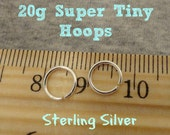 Super Tiny 20g Sterling Silver Hoops