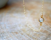 Small Swarovski Crystal Pendant Necklace - Gold Filled Chain