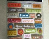 One Sheet of Autumn Scrapbook Album  Embellishments Foam Back