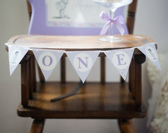 Lavender and Lace First Birthday Mini Banner