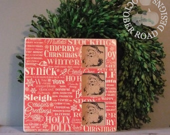 Christmas Picture Frame (Twas the Night Before Christmas) by October Road Designs