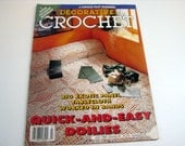 Vintage Decorative Crochet Pattern Book - July 1994 # 40 - quick and easy doilies - tablecloths, bedspreads, filet runners and more
