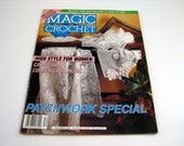 Magic Crochet Patchwork Special Pattern Book - Dec. 1992 - # 81 ....crochet patterns, Tablecloths - Bedspreads - Cardigans - and More