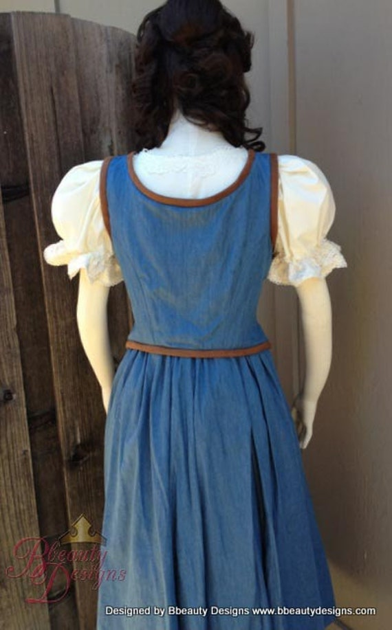 Belle Once Upon A Time Peasant Dress A Inspired by ...