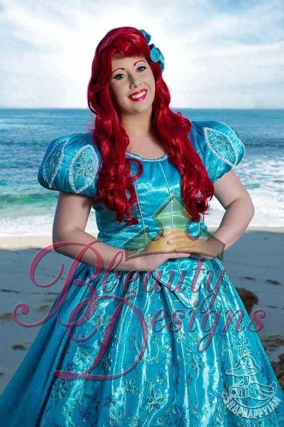 Ariel Mermaid Aqua Sea Foam Park Inspired Dress By