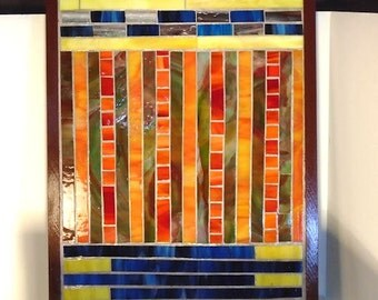 Stained Glass Mosaic Glass On Glass Abstract Art Mixed Media Housewares Home Decor Wall Decor Wall Hanging