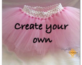 NEW PRODUCT Create your own 0-3 month solid infant tutu