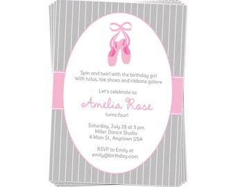 50% Off Sale! - PRINTABLE Ballerina Party Invite