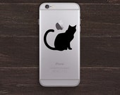 Cat Vinyl iPhone Decal BAS-0241