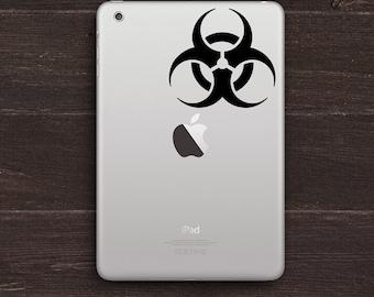 Biohazard Logo Vinyl iPad Decal BAS-0114