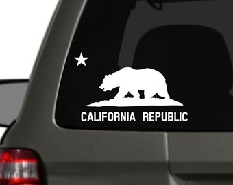 California Flag Vinyl Car Decal BAS-0293