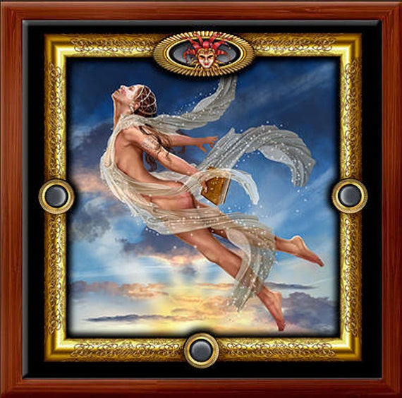 Angel Priestess -- Gilded Tarot Royale  Wood Box