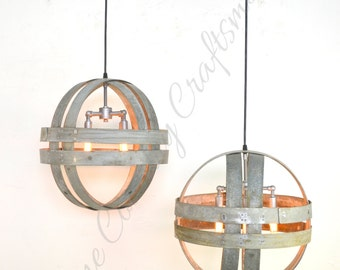 "ATOM - ""Dabala"" - Small Double Ring Wine Barrel Light - 100% RECYCLED"