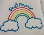 God's Promise Baby Gown, Rainbow Baby Gown, Rainbow Baby Gown or Bodysuit, Rainbow Baby, Christian Baby Present, Personalized Rainbow Baby