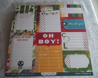 Get Happy Journaling Cards by Cosmo Cricket 2- 12x12 sheets