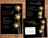 Sparkler Wedding Invitation Set Digital Files