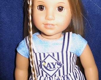 Tampa Bay Rays Sundress and shirt for any American Girl or 18 inch doll