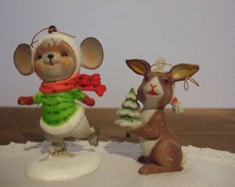 Woodland Animal Vintage Christmas Ornaments