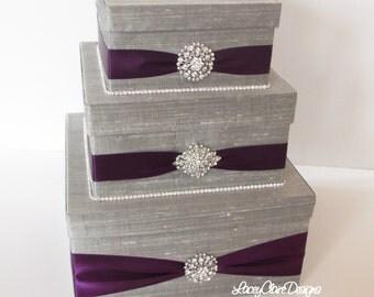 Wedding Card Box, Bling Card Box, Rhinestone Money Holder, Bling Card Box  - Custom Made