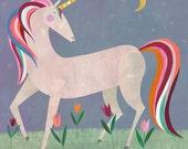 Fairytale Unicorn Canvas Print