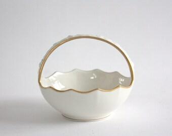 Vintage Noritake Porcelain Bowl, Basket