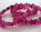 Rough pink sapphire nugget beads 3-7mm