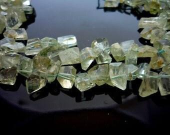 Rustic geometric aquamarine shards 6-11mm 1/2 strand