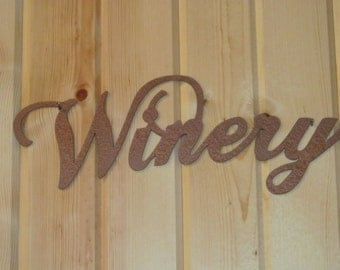 WINERY Metal Sign