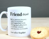 Personalized 'Friend' Definition Gift Mug