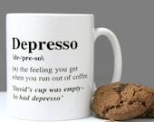 Depresso Personalised Coffee Mug