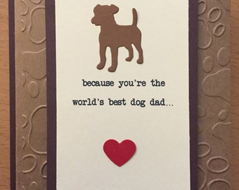 Custom, Dog, Doggy, Puppy, Dog Daddy, Dog Dad, Father's Day Card, Greeting Card, Handmade, Paper craft, Stamping, Stamped
