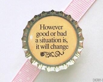 Inspirational Magnet, Bottle Cap Magnet, inspirational quote magnet quote art fridge magnet stocking stuffer secret santa gift motivational