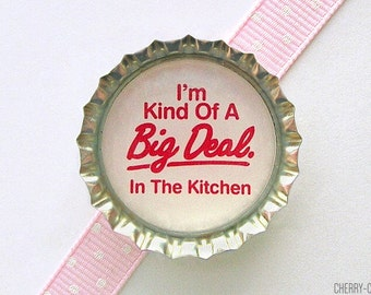 Chef Bottle Cap Magnet - funny fridge magnet, kitchen decor, chef gift, for chef, restaurant chef magnet, kitchen organization, cooking gift