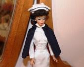 Barbie Registered Nurse uniform dress, cape, cap Mattel 1961 - 1964