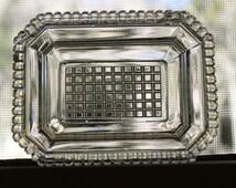 EAPG flint glass open salt mid-19th century Boston & Sandwich