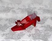 Little Red Riding Hood Low Heel Paper Shoe