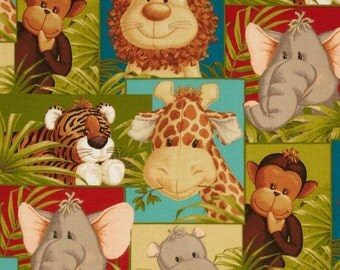 Jungle Babies fabric patchwork Safari per fat quarter by Patty Reed / African fabrics/ Quilting/ Accessories