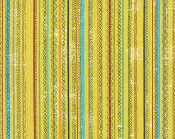 Garden Project - Stitched Stripes in Pear by Tim & Beck for Moda Fabrics