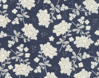 Garden Project - Vintage Floral in Blueberry by Tim & Beck for Moda Fabrics