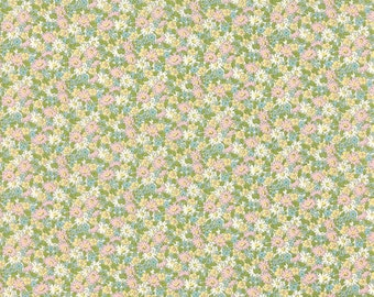 Ambleside - Small Floral in Linen by Brenda Riddle for Moda Fabrics