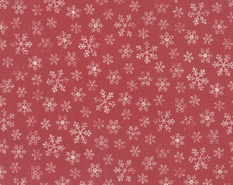 Joyeux Noel - Flocon in Faded Red by French General for Moda Fabrics